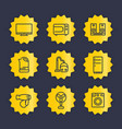 appliances line icons set vector image