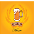 beer menu mug vector image
