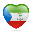 Heart icon of Equatorial Guinea vector image
