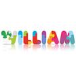WILLIAM written with alphabet puzzle vector image