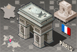 Isometric Infographic Arc de Triomphe in Paris - vector image vector image