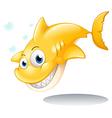 A golden yellow shark vector image