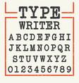 alphabet font template vector image