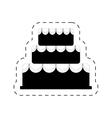 cake bakery dessert celebration party pictogram vector image