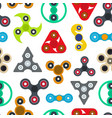 cartoon spinner toy seamless pattern background vector image