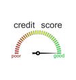 Credit score gauge credit request vector image