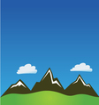 Mountain clouds background vector image
