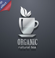 Organic natural tea icon symbol 3D style Trendy vector image