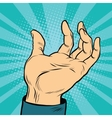 Open palm hands vector image vector image