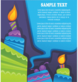 image of birthday cakes candle and speech vector image