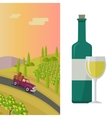 Wine Production Banner Poster for White Vine vector image