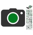 Photo Camera Icon With Bonus vector image