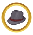 Gray hat icon vector image
