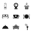 Hotel icons set simple style vector image