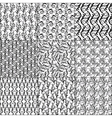 Set of nine floral seamless patterns vector image vector image