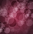 Abstract maroon background with circles vector image