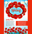 floral poster for spring holiday greetings vector image