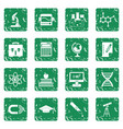 education icons set grunge vector image vector image