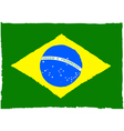 Painted Brazilian flag vector image vector image