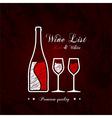 Wine list designs vector image vector image