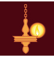 hanging lamp vector image vector image