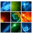 Abstract backgrounds collection modern vector image vector image