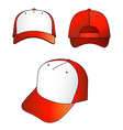 red-white cap vector image