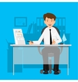 Businessman manager consultant at work vector image vector image