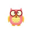 Cross-eyed Pink Owl vector image