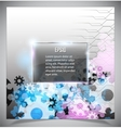 Blue and white modern futuristic background vector image vector image