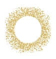 Golden sequins are scattered on a white background vector image