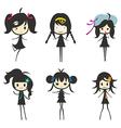 Cartoon Girl Group Children vector image