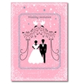 Invitation to the Huppah Pink invitation to a vector image