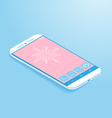 Isometric Flat Smartphone vector image
