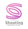 letter s shooting icon business vector image