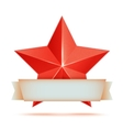 red 3d star premium The best reward vector image