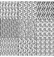 Set of nine floral seamless patterns vector image