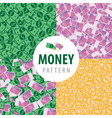 Set of patterns with pot of money vector image