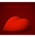 Valentines Day background with large red heart vector image