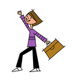 Close-up of boy holding bag vector image vector image