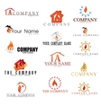 Collectionn of Fire Logotypes in vector image