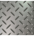 Diamond Plated Seamless metal sheet vector image vector image