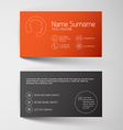 Modern red business card template with simple vector image