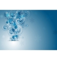 Abstract blue Christmas background vector image