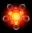 techno pentagram vector image