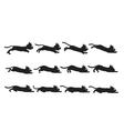 Black Cat Sliding Sprite vector image