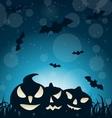 Halloween Spooky Dark Background vector image vector image
