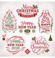 Christmas and New Year decoration labels vector image vector image