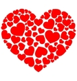 Big heart composed of small hearts vector image