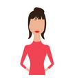 abstract woman avatar vector image